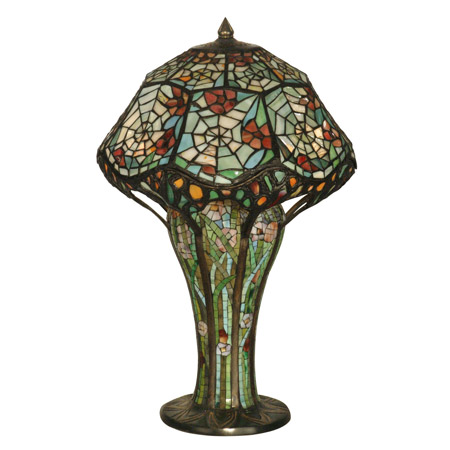 tiffany spider web table lamp by dale tiffany