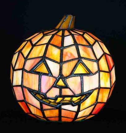 Tiffany Style Jack O Lantern Pumpkin Accent Lamp 24533 By Meyda