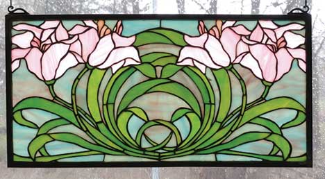 Tiffany Stained Glass Windows Calla Lilies Design Lily Art Glass
