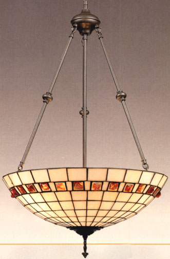 Tiffany Lamps Geometric Inverted Hanging Lamp By Dale Tiffany