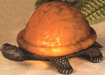 Tiffany Lamps Amber Turtle Accent Lamp