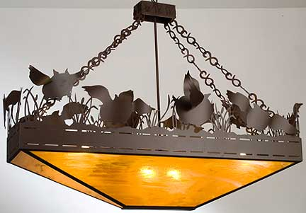 Rustic lamps flying pigs inverted pendant chandelier by meyda tiffany aloadofball Images