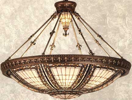 Tiffany lamps fleur de lis large inverted chandelier aloadofball Gallery