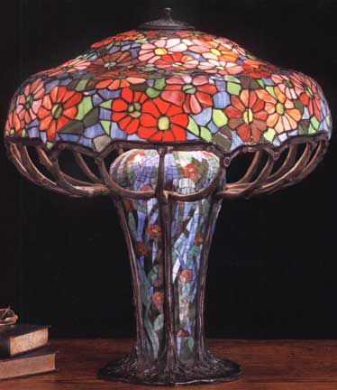 Tiffany lamp reproductions museum collection zinnia mosaic large tiffany lamp reproductions museum collection zinnia mosaic large table lamp aloadofball Image collections