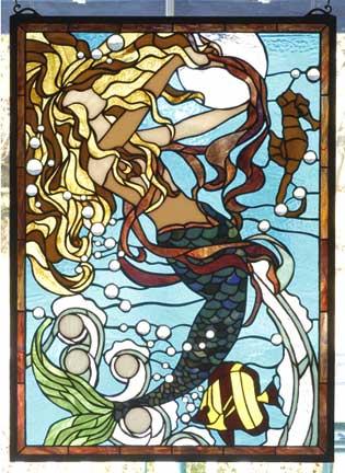 Stained Glass Windows Mermaid Window By Meyda Tiffany