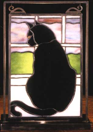Cat At Window Lighted Tabletop Mini